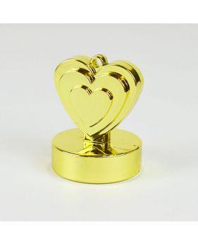 pesa para globos corazon oro