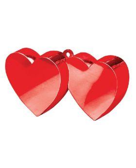 Pesa para globos Corazones Rojos 170g
