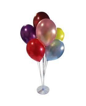 Centro de decoración con globos inflados con aire de 7 piezas